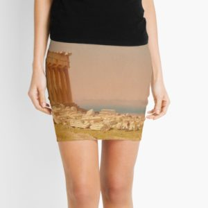 Ruins of the Parthenon Oil Painting by Sanford Robinson Gifford Mini Skirts