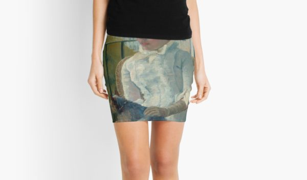 Young Girl at a Window Oil Painting by Mary Stevenson Cassatt Mini Skirts