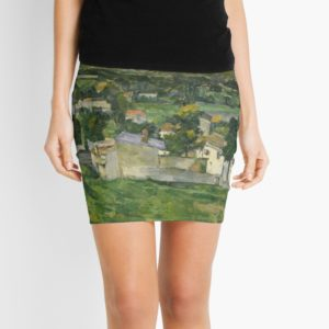 Stolen Art - View of Auvers-sur-Oise by Paul Cezanne Mini Skirts