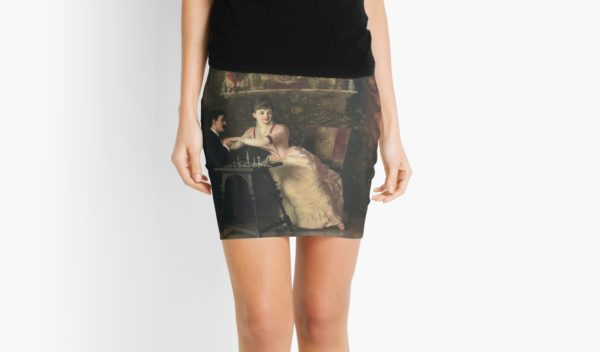 The Proposal Oil Painting by Knut Ekwall Mini Skirts