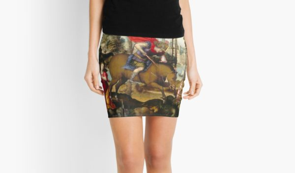 Saint George and the Dragon Oil Painting by Sodoma Mini Skirts