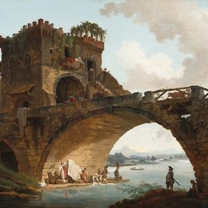 The Ponte Salario Oil painting by Hubert Robert Photographic Prints