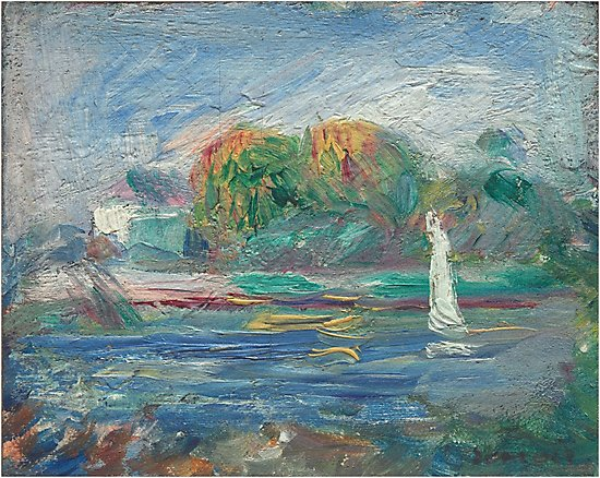 The Blue River Oil Painting by Auguste Renoir Photographic Prints