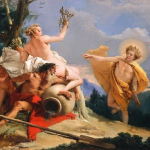 Oil Painting Apollo Pursuing Daphne by Giovanni Battista Tiepolo Photographic Prints
