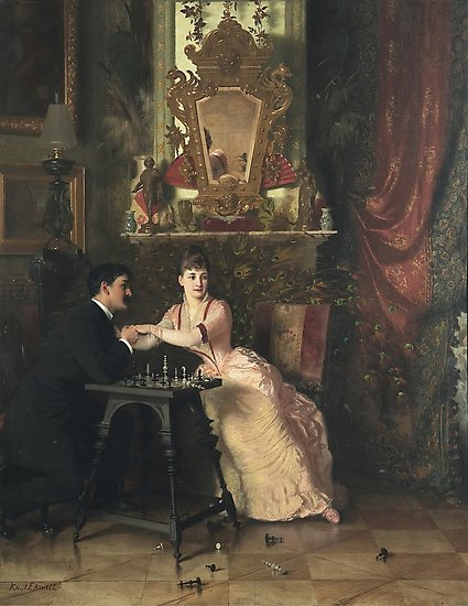 The Proposal Oil Painting by Knut Ekwall Photographic Prints