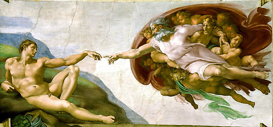 The Creation of Adam Painting by Michelangelo Sistine Chapel Photographic Prints