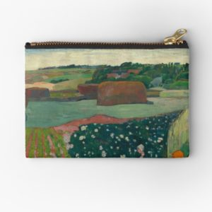 Haystacks in Brittany Oil Painting by Paul Gauguin Studio Pouches