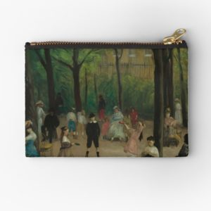Luxembourg Gardens Oil Painting by William James Glackens Studio Pouches