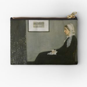 Whistlers Mother Oil Painting by James McNeill Whistler Studio Pouches