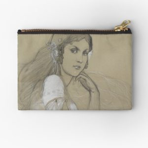 The artists daughter by Jaroslava Drawing Studio Pouches