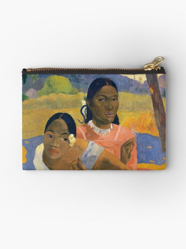 Affordable Art $300,000,000 When Will You Marry by Paul Gauguin Studio Pouches