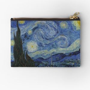 Starry Night Oil painting by Vincent van Gogh Studio Pouches