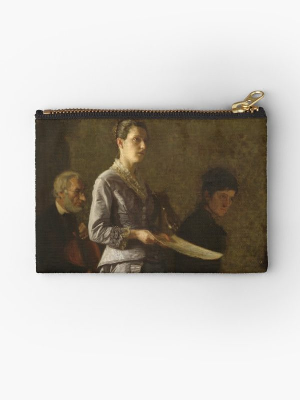 Singing a Pathetic Song Oil Painting by Thomas Eakins Studio Pouches