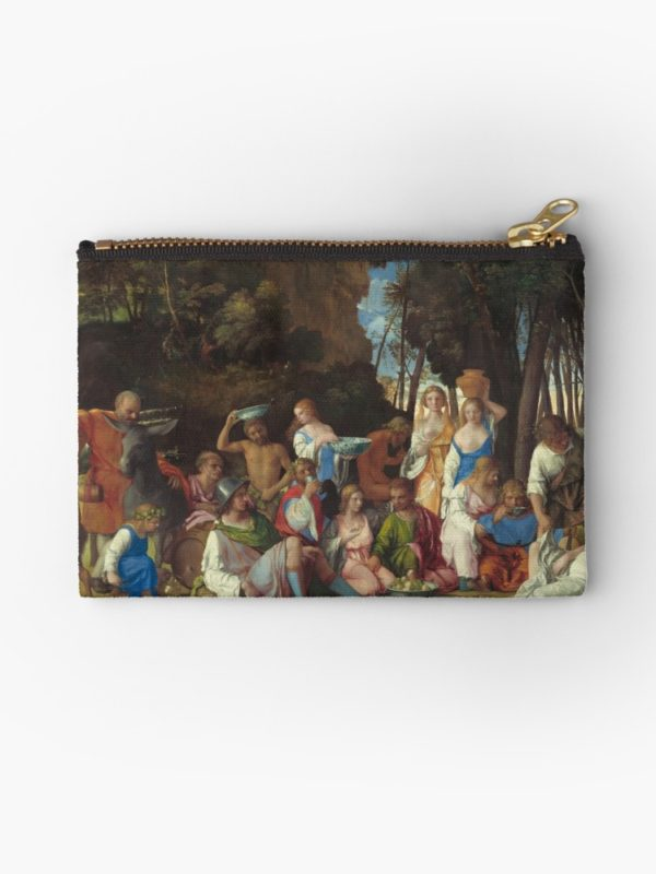 The Feast of the Gods Painting by Giovanni Bellini and Titian Studio Pouches