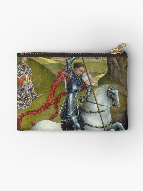 Saint George and the Dragon Oil Painting by Rogier van der Weyden Studio Pouches