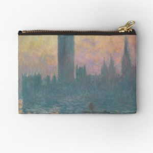 The Houses of Parliament  Sunset by Claude Monet Studio Pouches