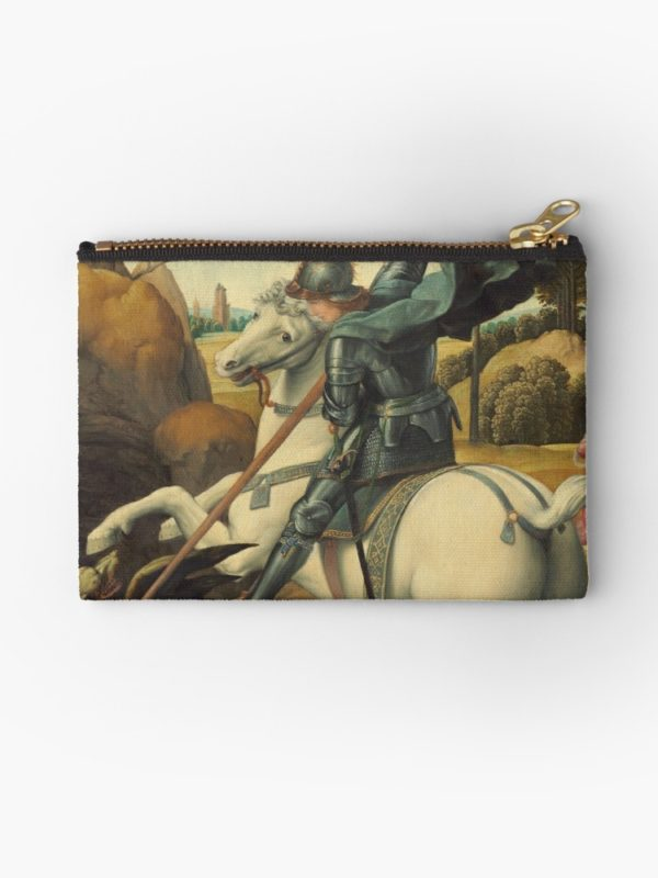 Saint George and the Dragon Oil Painting By Raphael Studio Pouches