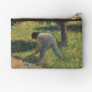 Peasant with a Hoe Oil Painting by Georges Seurat Studio Pouches