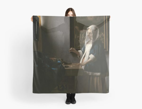Woman Holding a Balance Oil Painting by Johannes Vermeer Scarves