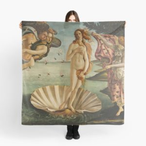 The Birth of Venus - Nascita di Venere by Sandro Botticelli Scarves
