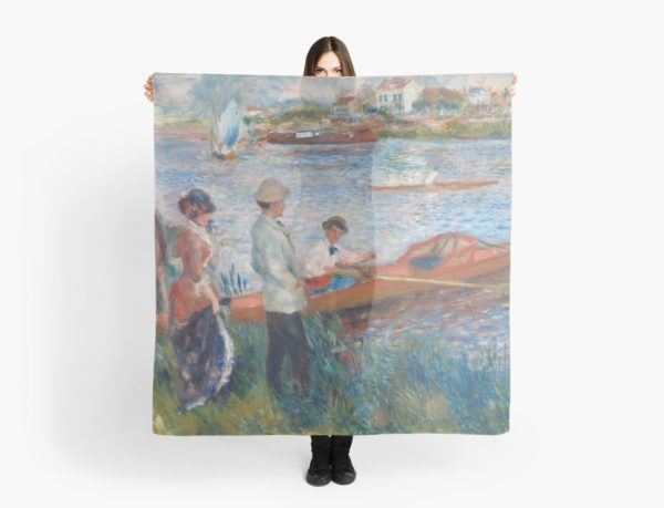 Oarsmen at Chatou Painting by Auguste Renoir Scarves