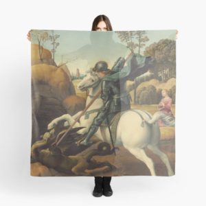 Saint George and the Dragon Oil Painting By Raphael Scarves