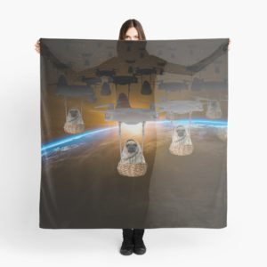 Pugvasion Alien Invasion by Drone Scarves