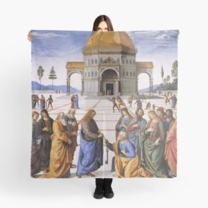 The Delivery of the Keys Painting by Perugino Sistine Chapel Scarves