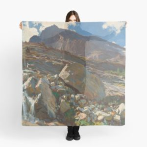 Simplon Pass Oil Painting by  John Singer Sargent Scarves