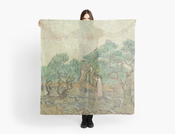 The Olive Orchard by Vincent van Gogh - Classic Art Scarves