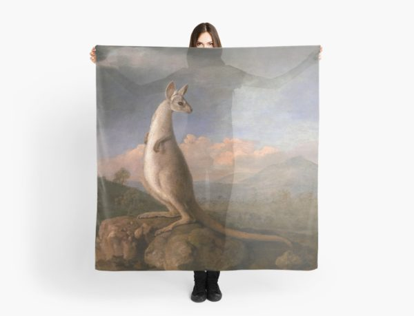 The Kongouro Oil Painting by Australian Artist George Stubbs Scarves