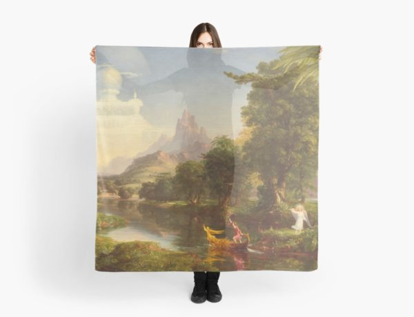 The Voyage of Life Youth Painting by Thomas Cole Scarves