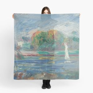 The Blue River Oil Painting by Auguste Renoir Scarves