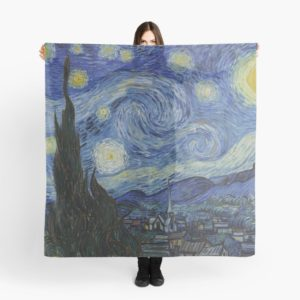 Starry Night Oil painting by Vincent van Gogh Scarves