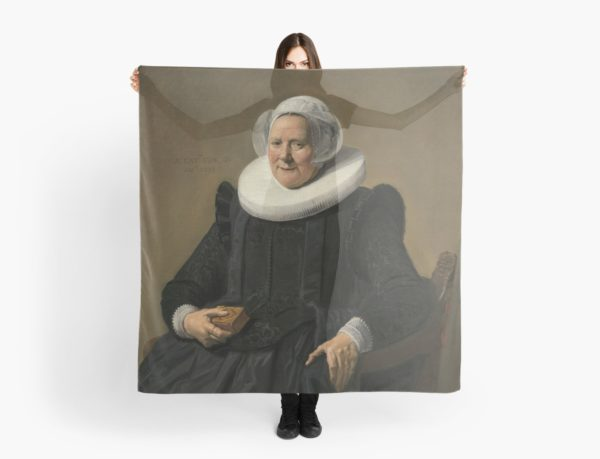 Portrait of an Elderly Oil Painting Lady by Frans Hals Scarves