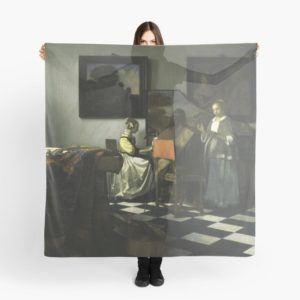 Stolen Art - The Concert by Johannes Vermeer Scarves