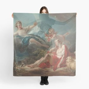 Diana and Endymion Oil Painting by Jean-Honoré Fragonard Scarves
