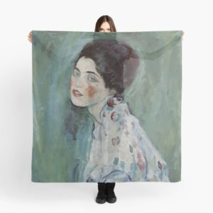 Stolen Art - Portrait of a Lady by Gustav Klimt Scarves