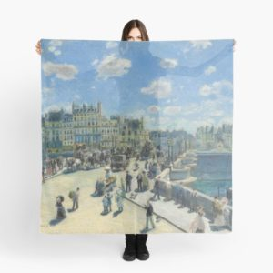 Pont Neuf Paris Painting by Auguste Renoir Scarves