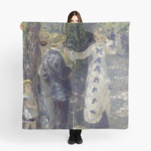 The Swing Oil Painting by Auguste Renoir Scarves