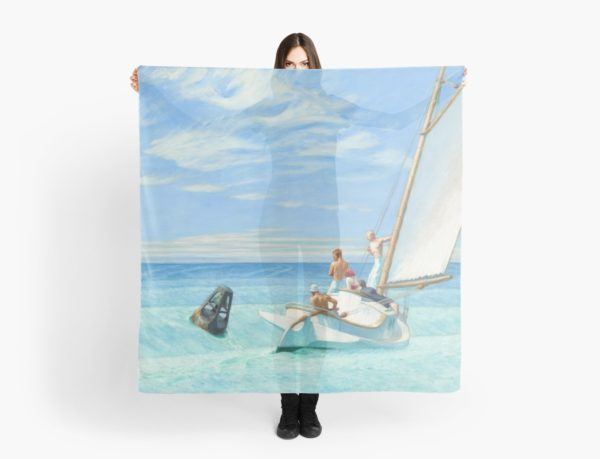 Ground Swell Oil Painting by Edward Hopper Scarves