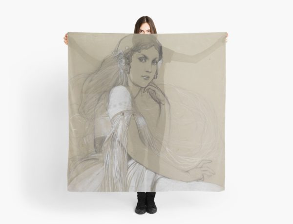 The artists daughter by Jaroslava Drawing Scarves