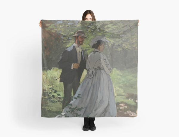 Bazille and Camille Painting by Claude Monet Scarves