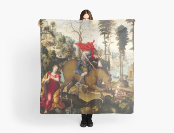 Saint George and the Dragon Oil Painting by Sodoma Scarves