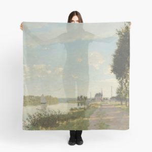 Argenteuil by Claude Monet Scarves