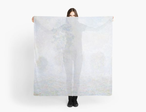 Morning Haze by Claude Monet Scarves