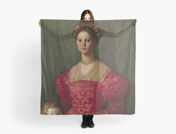 A Young Woman and Her Little Boy Oil Painting by Agnolo Bronzino Scarves