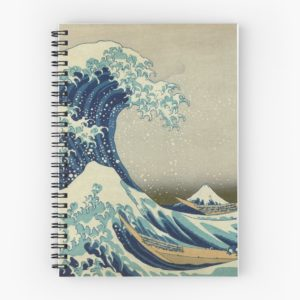 The Classic Japanese Great Wave off Kanagawa by Hokusai Spiral Notebooks