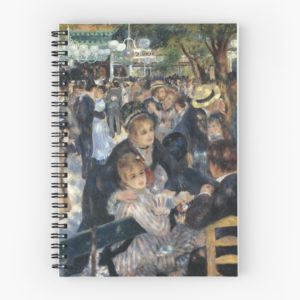 Bal du Moulin de la Galette Oil Painting by Auguste Renoir Spiral Notebooks