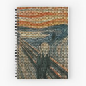 The Scream Lovingly Knitted by Granny E-Munch Spiral Notebooks